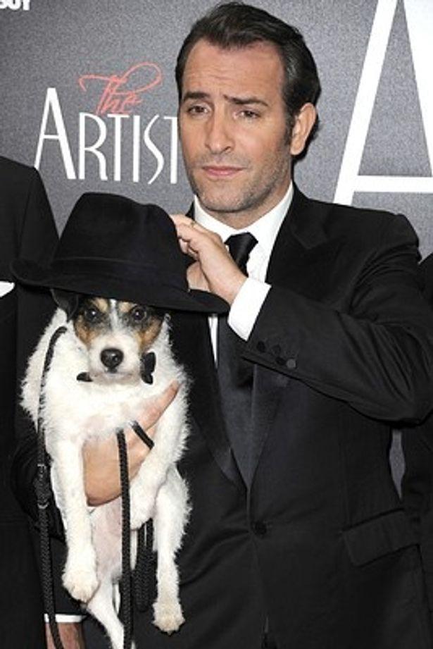 『アーティスト』の愛犬アギーはアカデミー賞は家で鑑賞予定