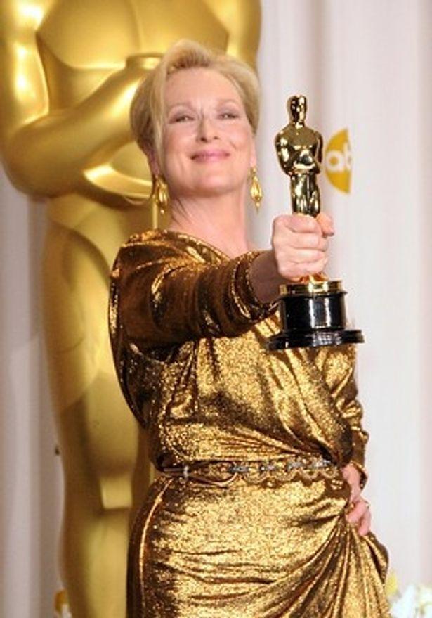 主演女優賞を受賞したメリル・ストリープ