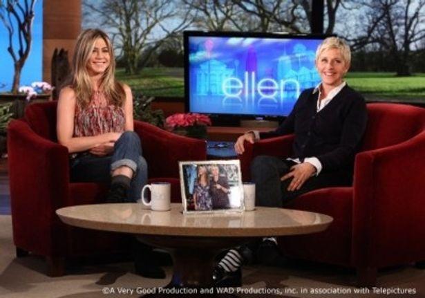 ジェニファー・アニストンらセレブがゲスト出演するアメリカの人気トーク番組「エレンの部屋」