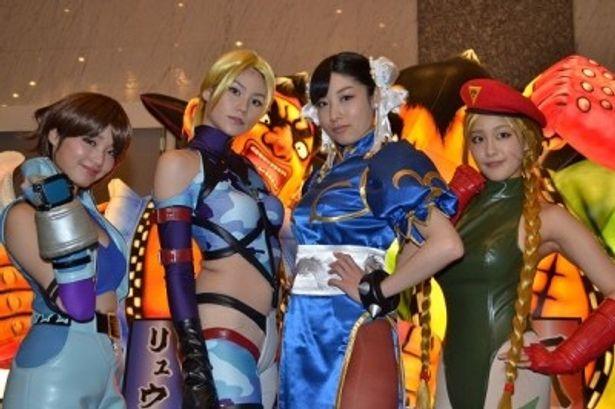 人気格闘ゲームの4大ヒロインが集結し、大会を盛り上げてくれた