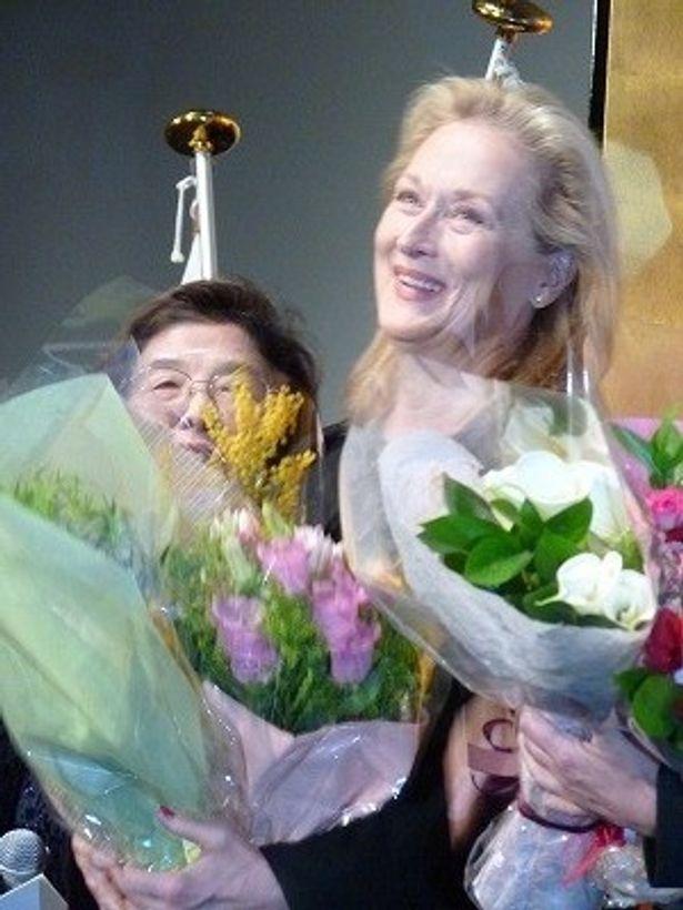 第84回アカデミー主演女優賞を受賞したばかりのメリル・ストリープが来日