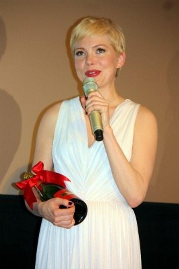 『マリリン 7日間の恋』でマリリン・モンロー役を演じたミシェル・ウィリアムズ