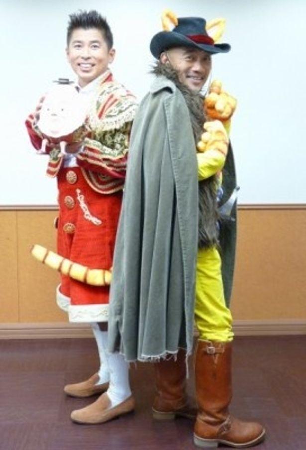 『長ぐつをはいたネコ』日本語吹替版で声優を務めた竹中直人と勝俣州和