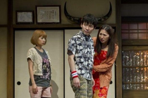 「テキサス -TEXAS-」主演を務める星野源(写真中央)、木南晴夏(同左)、野波麻帆(同右)
