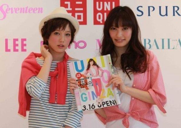 トークイベントに登場した本田翼と大政絢(写真左から)