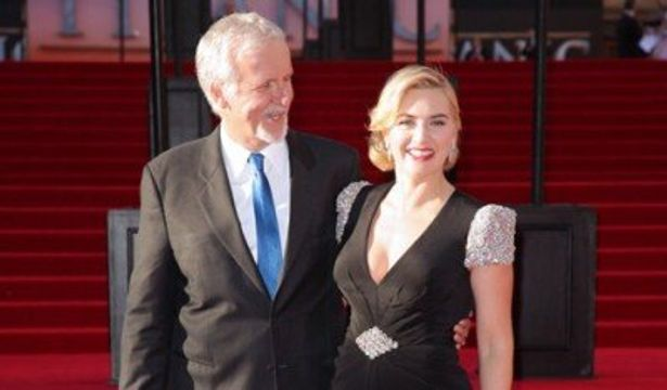 『タイタニック』ロンドンワールドプレミアに出席した、ジェームズ・キャメロン監督、ケイト・ウィンスレット