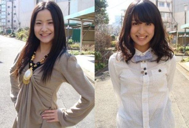 初DVDで共演したヒガリノ(写真左)と入矢麻衣(同右)