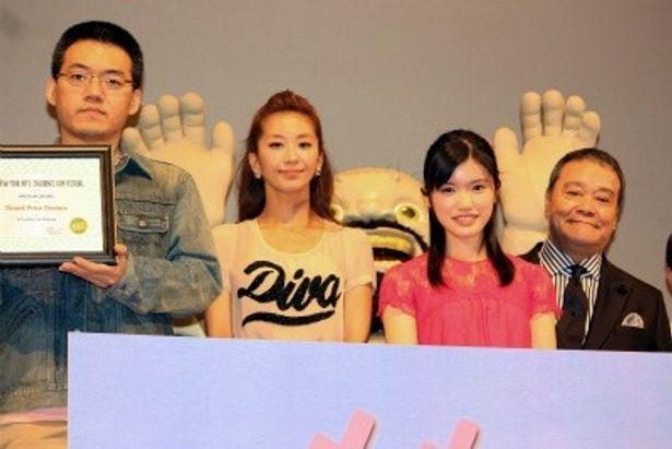 『ももへの手紙』の完成披露試写会で美山加恋や優香、西田敏行らが登壇