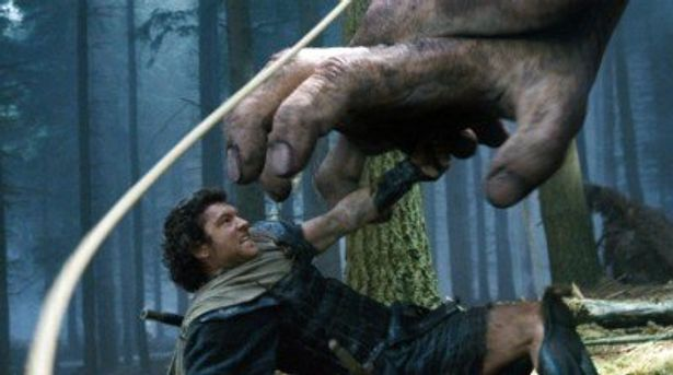 凶暴な巨人サイクロプスとバトルを繰り広げる主人公ペルセウス