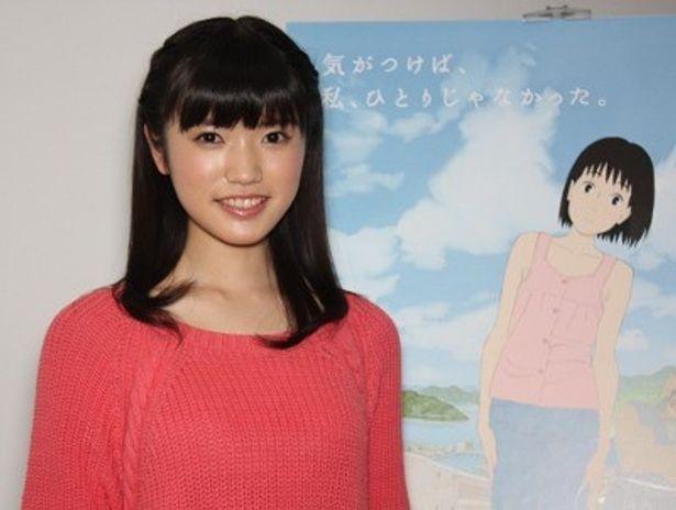 『ももへの手紙』で、もも役の声優を務めた美山加恋