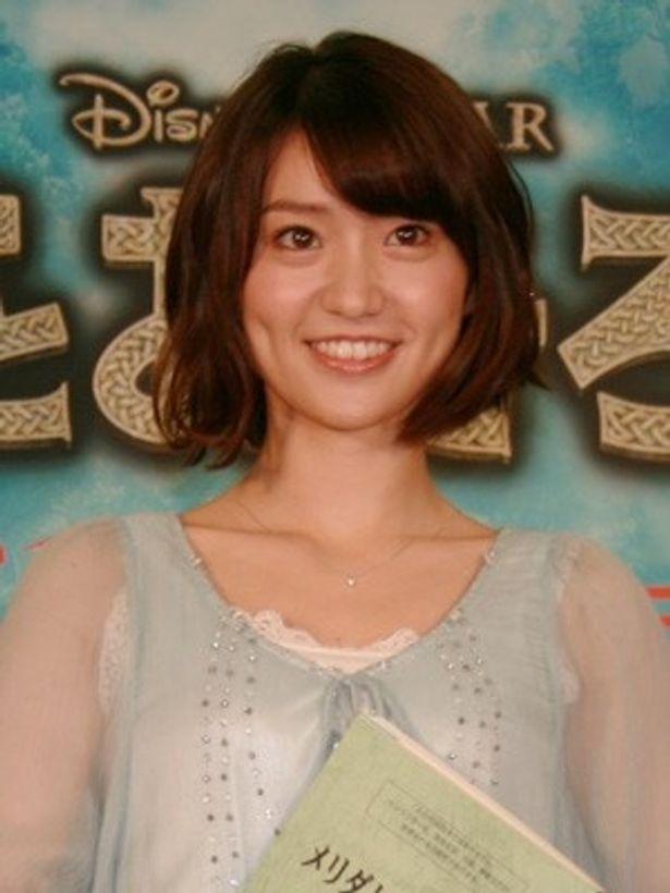 『メリダとおそろしの森』のアフレコ収録を行った大島優子