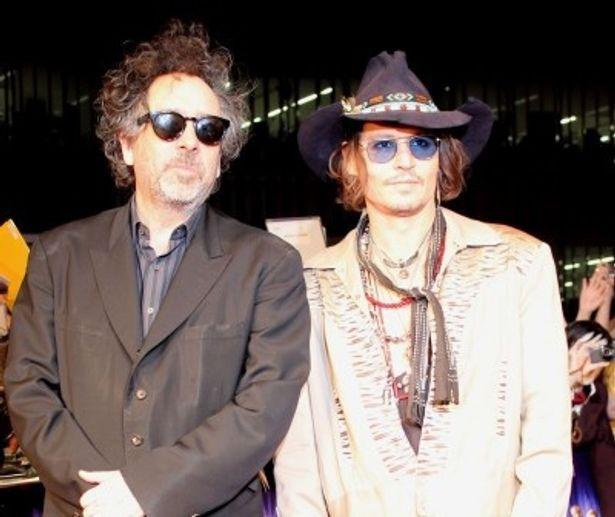 『ダーク・シャドウ』で来日したジョニー・デップとティム・バートン監督がレッドカーペットに登場!