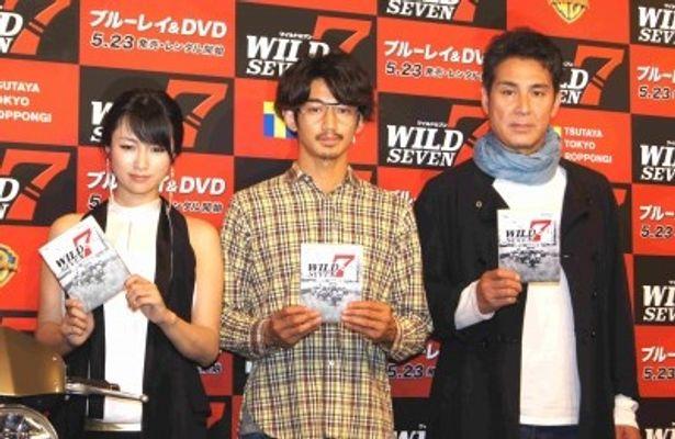 トークイベントに登場した深田恭子、瑛太、宇梶剛士(写真左から)