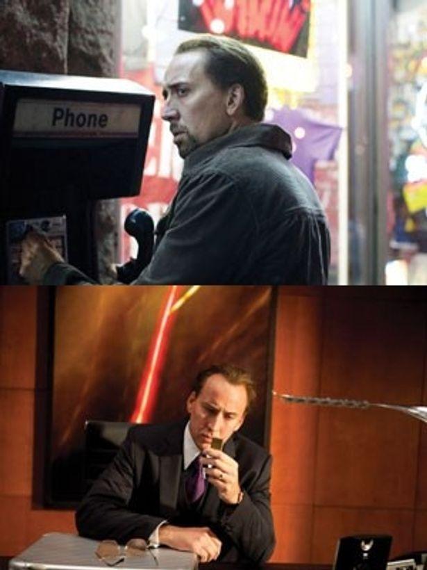 ケイジが自身初の教師役を演じる『ハングリー・ラビット』(写真上)と、一家の大黒柱であるダイヤモンドディーラーに扮する『ブレイクアウト』(写真下)