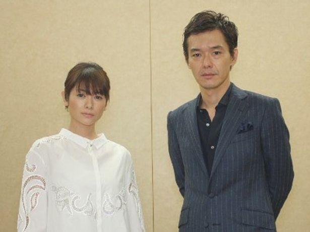 『外事警察 その男に騙されるな』の渡部篤郎と真木よう子にインタビュー