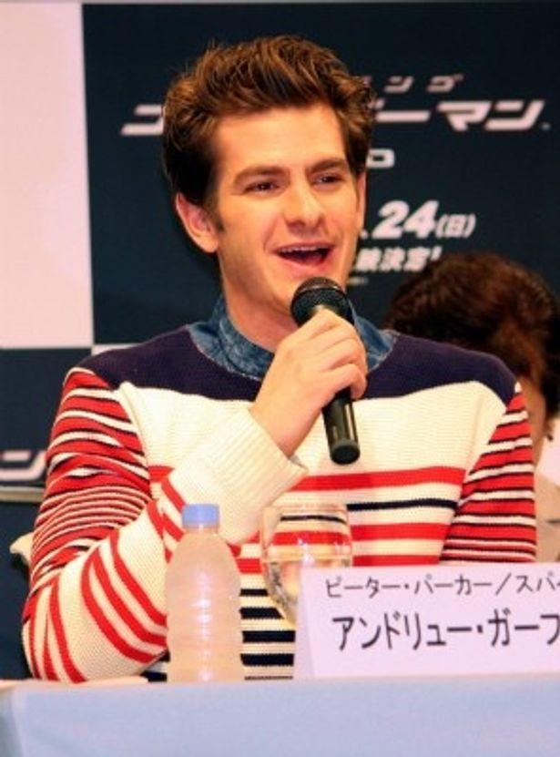 スパイダーマン、すなわち主人公ピーター・パーカー役のアンドリュー・ガーフィールド