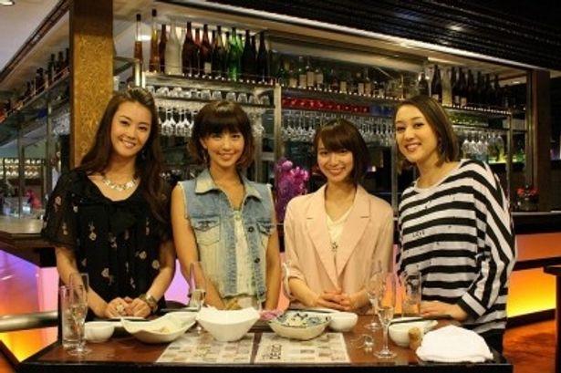 観月ありさ、安田美沙子、芹那、SHELLY(写真左から)