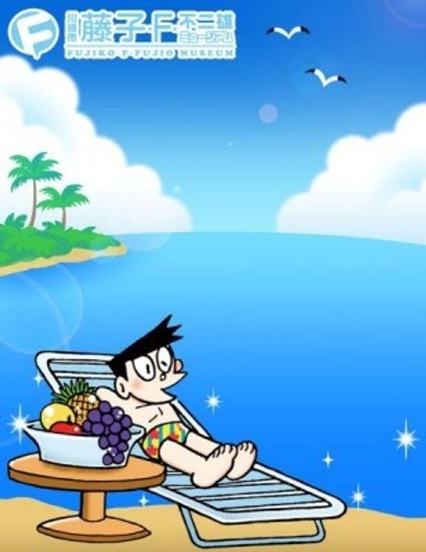 """さすがの""""お金持ち感""""!ハワイ好きのスネ夫が主役のイベントだ。写真はプリントシール機に登場した可愛いスネ夫柄フレーム"""
