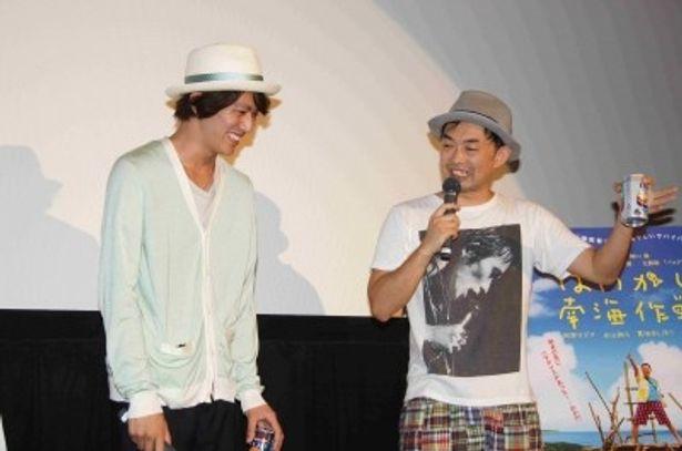 トークイベントを行った永山絢斗と細川徹監督(写真左から)