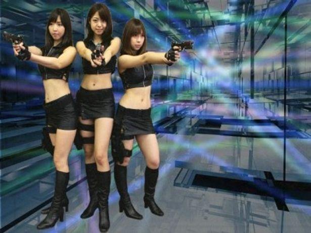 中村静香、疋田紗也、大塚麻恵のセクシーでキュートなスパイ姿