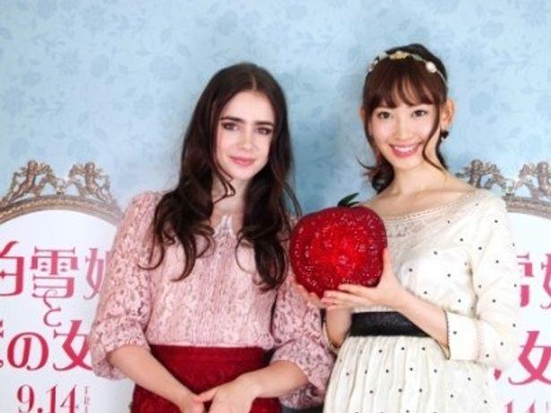 『白雪姫と鏡の女王』で白雪姫を演じるリリー・コリンズ、CMオピニオンに起用された小嶋陽菜