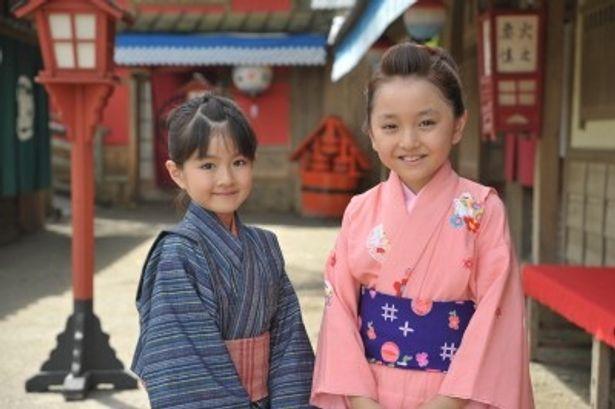 ドラマスペシャル「みをつくし料理帖」で時代劇に初挑戦する小林星蘭と谷花音(写真左から)