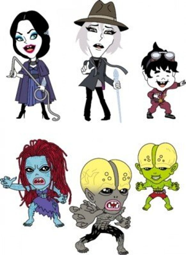 ベム、ベラ、ベロと3体の妖怪体をデフォルメしたイラストが誕生