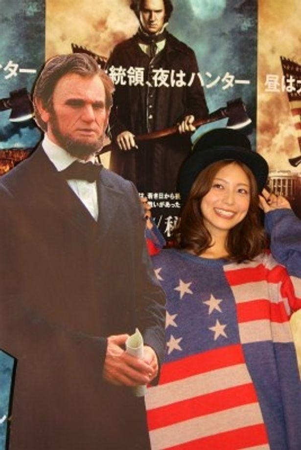 『リンカーン秘密の書』で大統領夫人メアリー・リンカーン役の声優を務める相武紗季