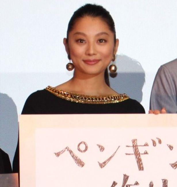『ペンギン夫婦の作りかた』完成披露試写会に登壇した小池栄子