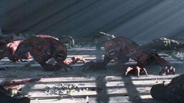 ゾンビ化した人間がさらに突然変異を起こして誕生したクリーチャーのリッカー