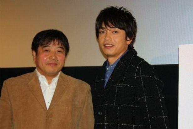 『渾身 KON-SHIN』の舞台挨拶に登壇した青柳翔と錦織良成監督