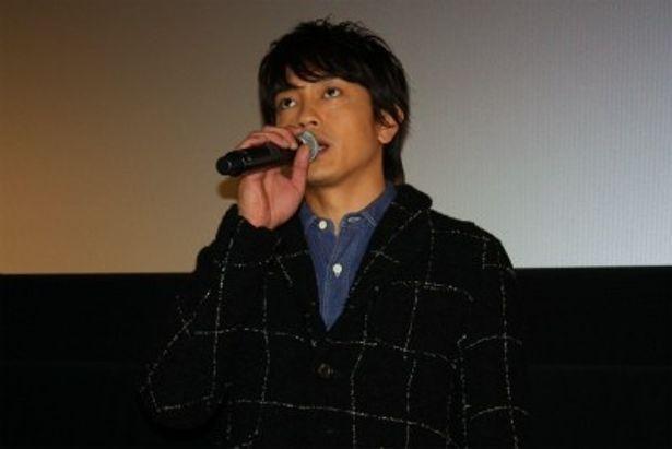 妻や娘のために相撲大会に出場する主人公・坂本英明役の青柳翔