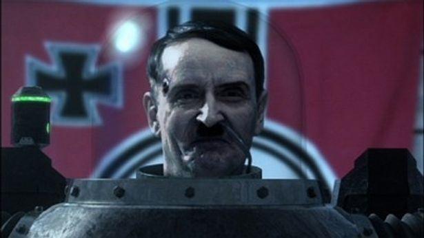 ロボットとして復活したヒトラー。戦闘力もアップし、ナチスの地下帝国を指揮する