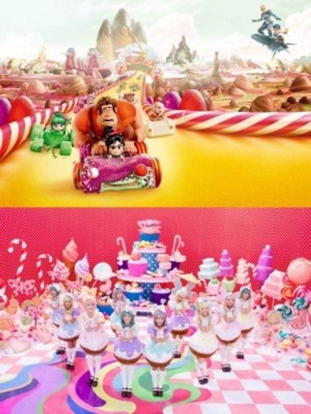 「Sugar Rush」のミュージック・クリップでカップケーキ姿に扮するAKB48