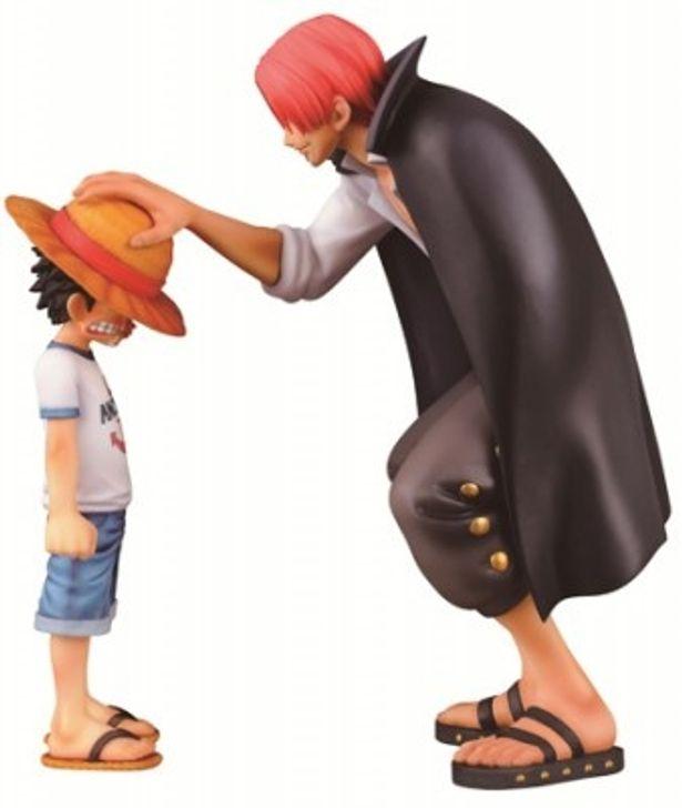 シャンクスがルフィに麦わら帽子を預ける名場面がフィギュアになって登場!
