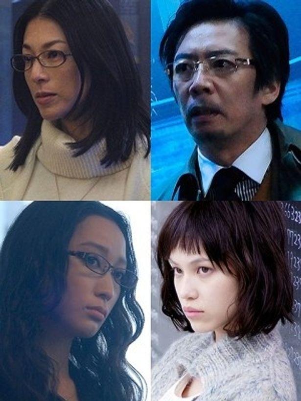 『プラチナデータ』に出演する鈴木保奈美、生瀬勝久、杏、水原希子