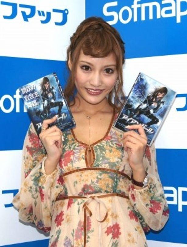 ブルーレイ&DVD発売記念イベントに登場した明日花キララ