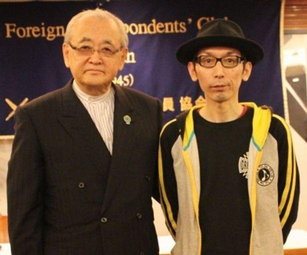 『タリウム少女の毒殺日記』の土屋豊監督と依田巽チェアマンが登壇