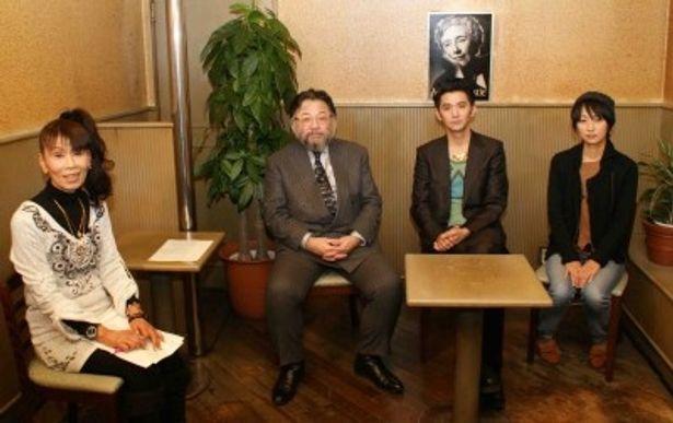 この日、ハードボイルドについて熱く語り合った襟川クロ、東直己、村上淳、横浜聡子(写真左から)