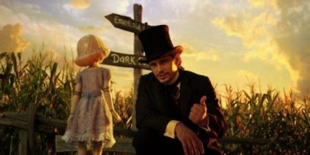 オスカー・ディグズ(後のオズ)を演じるのはジェームズ・フランコ