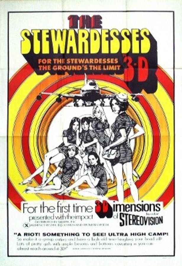 当時の『淫魔(The Stewardesses)』のポスター