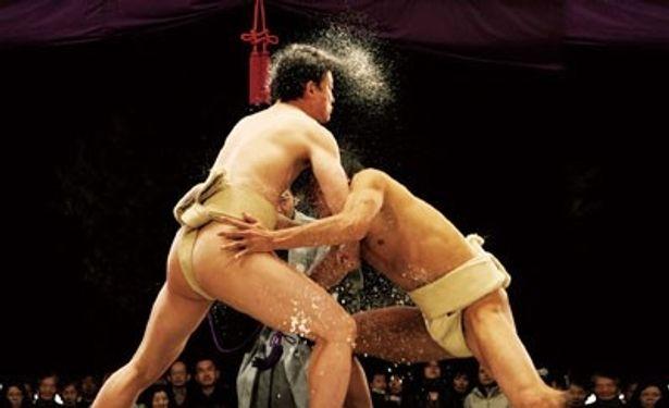 隠岐古典相撲の迫力に圧倒される