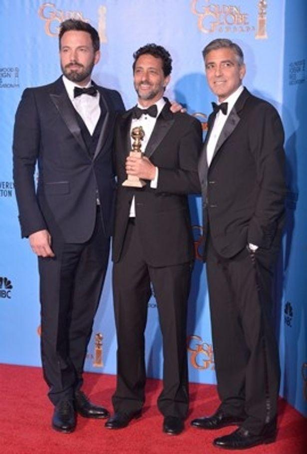 『リンカーン』などシリアスな作品も支持されている(ベン・アフレック監督、プロデューサーのグラント・ヘスラグ、ジョージ・クルーニー)