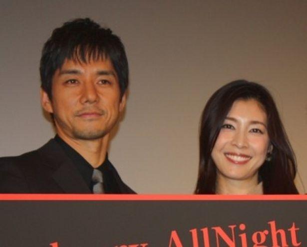 『ストロベリーナイト』イベントに登壇した竹内結子と西島秀俊