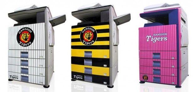 社員のやる気を向上させる「阪神タイガース」デザインのオフィス用コピー機が登場!