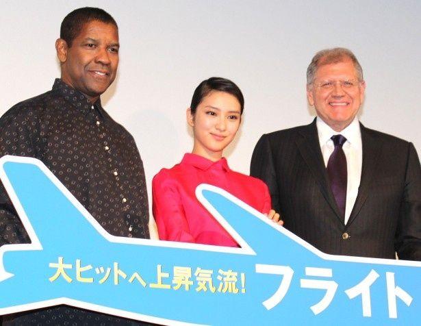 武井咲がデンゼル・ワシントン&ロバート・ゼメキス監督と対面!