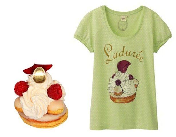 マカロンなどカラフルで愛らしい形のスイーツが、春らしいパステルカラーのTシャツになって登場!