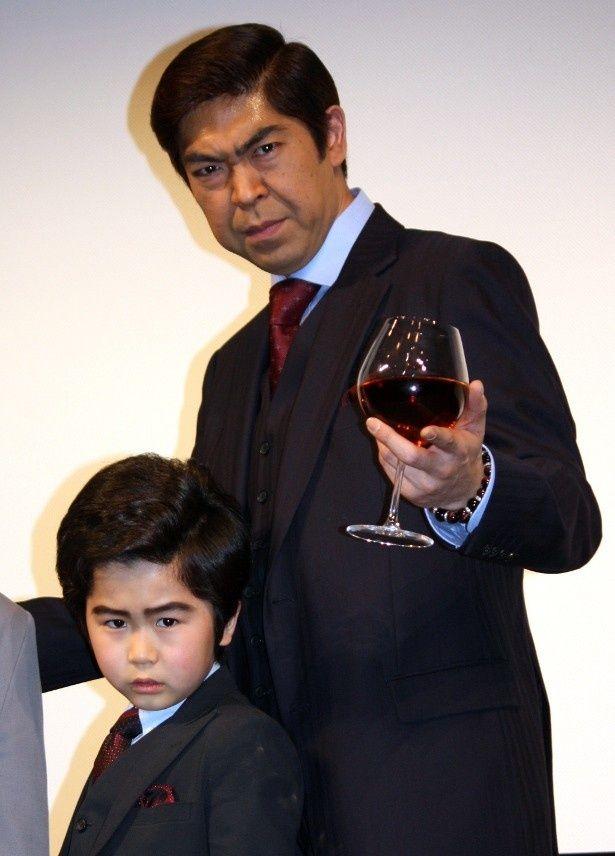 ゆうたろうとデカ長扮する鈴木福が初対面!