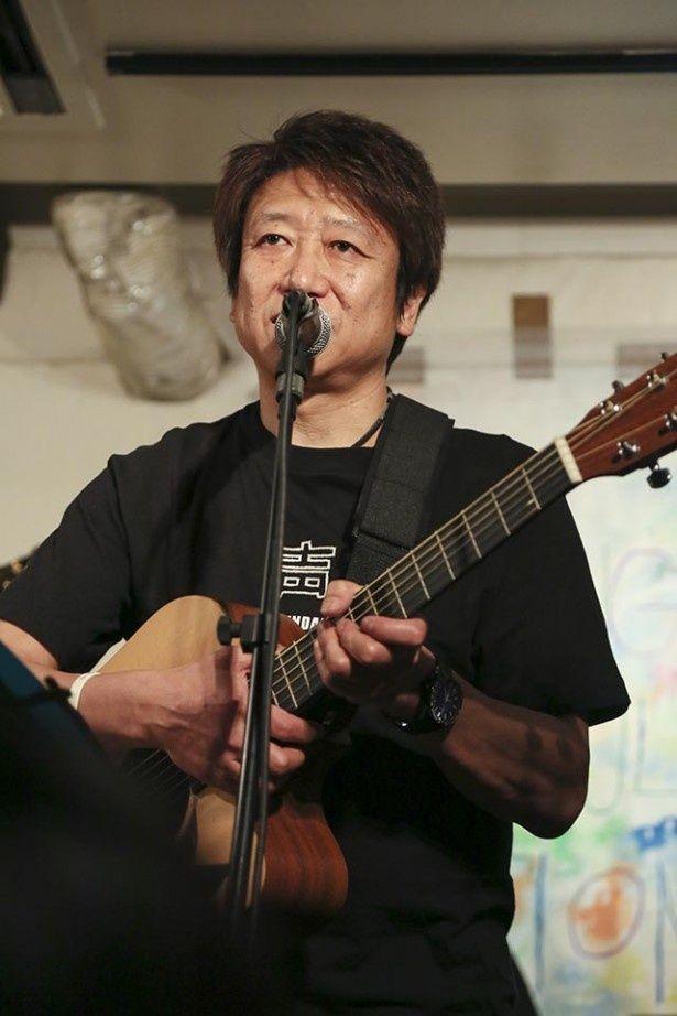 「僕たちにできることをやっていきたい」と語る声援団団長、井上和彦