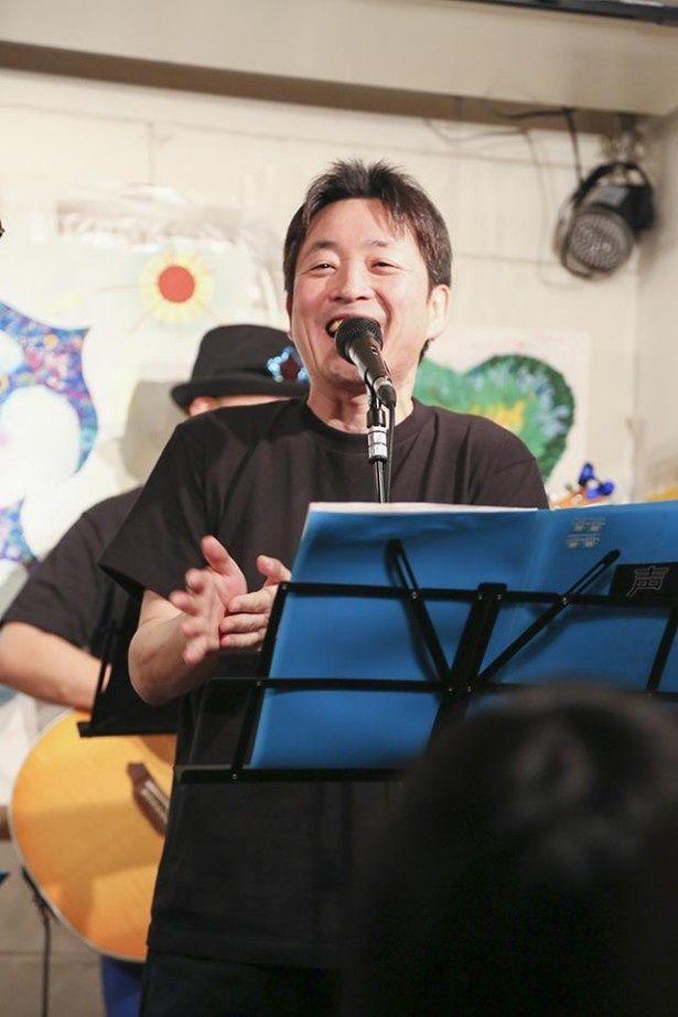 井上和彦とならぶベテラン声優、水島裕も参加。昨年の3.11チャリティーライブ以来、2度目の参加となる